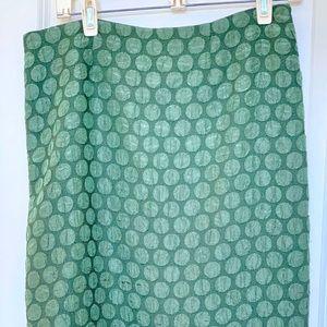 Maeve green dot skirt Anthropologie 6